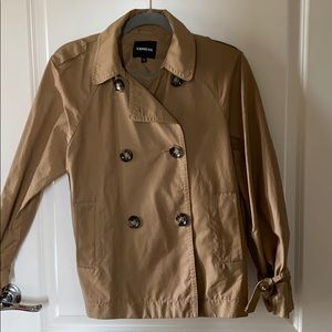 Express trench rain jacket